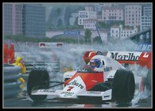 Painting 1984 Monaco GP winner McLaren MP4-2 #7 Alain Prost by Toon Nagtegaal