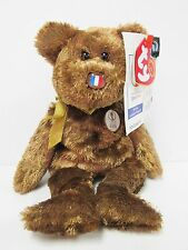 "Ty Beanie Baby ""France"" the World Cup Champion Bear, Brand New w/Mint Tags"
