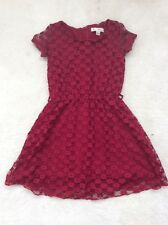Girls Red Lace Short Sleeve  Dress Age 5-6 Years From Yumi