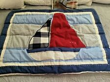 Pottery Barn Kids Cape Cod Quilted Sailboat Standard Sham New