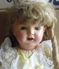 """Vintage 1920s Century Doll Co Composition Cloth Baby Girl Doll 23"""" Tall"""