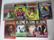 R.L. STINE LOT OF 8 PAPERBACKS GOOSEBUMPS, FEAR STREET Ghosts Horrorland RL PB