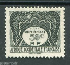 AOF AFRIQUE OCCIDENTALE FR, 1947, timbre TAXE 3, neuf (*)