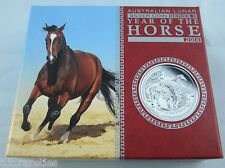 2014 Australian LUNAR Silver Proof 1 oz YEAR OF THE HORSE. Certificate 1448