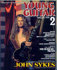Young Guitar Feb/98 John Sykes Megadeth Yngwie Van Halen Pink Floyd Andy Timmons