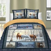 Horse Duvet Cover Set For Comforter Twin Full Queen King Size Bedding Set Animal
