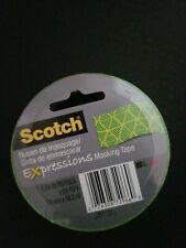 "Scotch 0.94"" Jungle Green Expressions Masking Tape, 20 Yds"