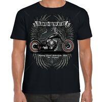 Mens Biker T-Shirt Big And Tall Motorcycle Motorbike USA Chopper Bobber Bike 94
