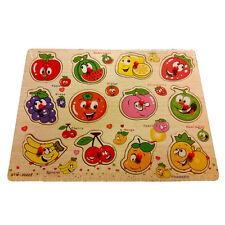 Dazzling Toys Wooden Peg Puzzle Toddler's Jumbo Fruits Jigsaw Educational Puzzle