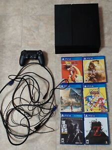 Sony Playstation 4 PS4 500GB Console Bundle Tested Good Condition 6 Games