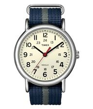 Brand New Timex Unisex Weekender Casual Sport Watch Nylon Blue Band T2N654