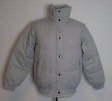 Ellis Brigham Super Down Ski Jacket Pale Grey Zip Off Sleeves Size L 16 UK