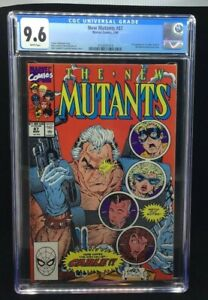 MARVEL - THE NEW MUTANTS - 87 - 3/90 - CGC 9.6 - 1ST APP. OF CABLE - WHITE PAGES
