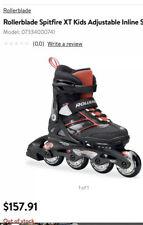 Rollerblade Spitfire Xt Boys Adjustable Fitness Inline Skates Black/Red Sz 2-6
