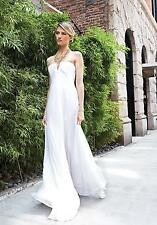 NICOLE MILLER CHIFFON WEDDING DRESS GOWN 4 $1275 FV0006