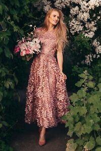New Anthropologie BHLDN Virdia Dress Sz 4 Pink $360