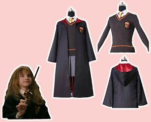 Hermione Granger Gryffindor COSplay Costume Kid&Adult Size IN STOCK