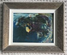 Paul Fournier.  Small Abstract Oil Painting. 1962. Signed By Artist.