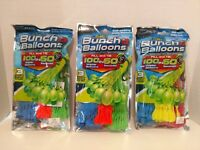 Zuru Bunch O Balloons Lot of 3 Packages of 100 Water Balloons 300 Total