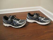 Used Worn Size 11.5 Asics Gel Equation Shoes Dark Gray Blue Silver Black T3F1Q
