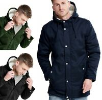 ONLY & SONS Faux Fur Parka Jacket Teddy Fur Lined Warm Hooded Winter Coat