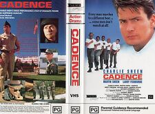 CADENCE - Charlie Sheen - VHS - PAL - NEW - Never played! - Original Oz release