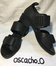 Women's Shelly's Janko 97 Leather Clog Sandals Black Size UK 3