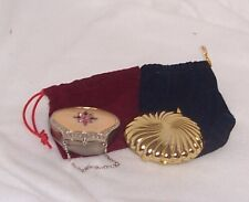 Partylite Travel Tealight Holders Lot of 2 Gold Shell and Mini-Purse Exquisite