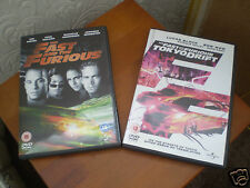 THE FAST AND THE FURIOUS AND FAST AND FURIOUS TOKYO DRIFT DVDs  -  NEW
