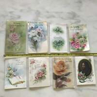 Vintage Sympathy Cards Flower Mother Mary Hallmark American Greeting USA Lot