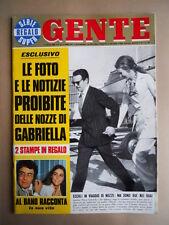 GENTE n°27 1969 Albano Romina Power raccontano la loro vita - Nozze Gabr [G685B]