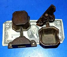 Antique H W Collender Billiards Pool Snooker Swing-Out Cast Iron Chalk Holders