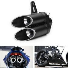 Stainless Steel 36-51mm Motorcycle Muffler Exhaust Tail Pipe Daul Tip DB Killer