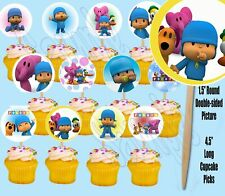 Pocoyo Double-Sided Cupcake Picks Cake Toppers -12PCS