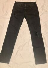 Kut from the Kloth Womens Black Distressed Jeans Sz 4
