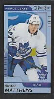 2017-18 O-Pee-Chee Mini Black Foil #M-53 Auston Matthews Toronto Maple Leafs SP