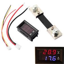Dc 100a 100v Digital Amp Volt Meter Voltmeter Ammeter Blue Red Led Current Shunt