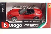 Bburago 36100 FERRARI California (Convertible) - METAL 1:43 Race&Play