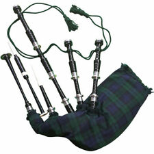 SL Scottish Great Highland Rosewood Black Watch Bagpipe Silver Mounts Polished