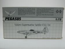 Pegasus Model Kit. Vickers Spitfire F22/24. 1:72 Scale. #1020. Complete & Boxed