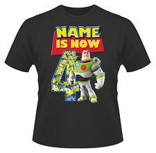 Toy Story Buzz Personalizado De Niño Camiseta Chica Edad 4 IDEAL REGALO
