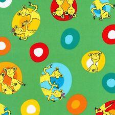 Dr Seuss Fabric - Hop on Pop - Colourful Eggs - Green - 100% Cotton