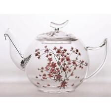 Théière en Verre Cerise Fleurs pour 1,2L Transparent Rose Tealogic