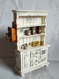 Artisian Vintage Shabby Chic Cabinet Antique Items  1:12