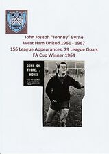 JOHNNY BYRNE WEST HAM UTD 1961-1967 RARE ORIG SIGNED MAGAZINE PICTURE CUTTING