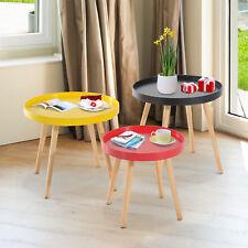 3pc Wood Round Coffee Tea Side End Sofa Table Living Room Furniture Home Decor