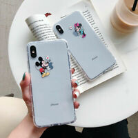 for iPhone 11 11 Pro X 8 7 Cute Disney Mickey Minnie Mouse Shockproof Case Cover