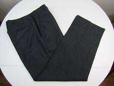 Hart Schaffner & Marx Viracle Mens Wool Dark Gray Dress Pants sz 34 x 30.5