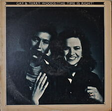 GAY & TERRY WOODS (STEELEYE SPAN): The Time Is Right-NM1976LP MATTACKS/PEGG
