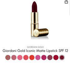 Oriflame Giordani Gold Iconic Matte Lipstick SPF 12 - Dark Burgundy, New *Sale*